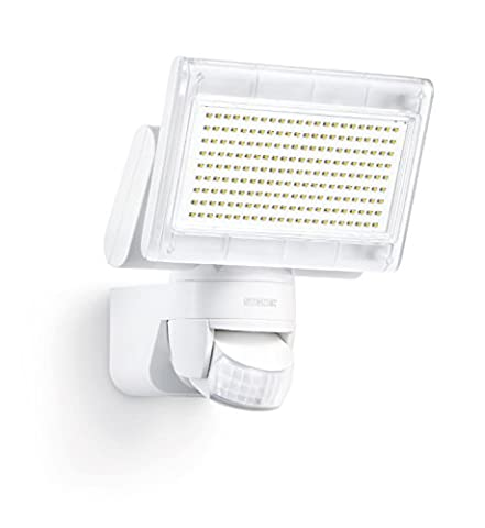 Steinel XLED Home 1 white - Sensor-switched LED Floodlight with NEW 4000K light colour, Outdoor Spotlight with 140° Infrared Motion Sensor and 14 m Reach, 14.8 W Power with 1020 lm Brightness, 029654