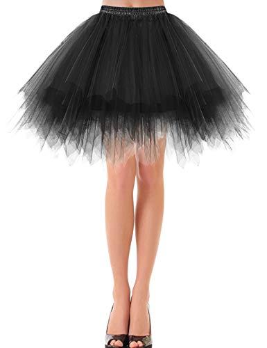etro Petticoat Rock Ballett Blase 50er Tutu Unterrock Black S ()