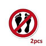 Aufkleber Sticker 4cm ORACAL Fußverbot Betreten Verboten Symbol Zeichen Warnhinweis für Sauna + Boot + Kühlschrank + Kühltruhe (2)