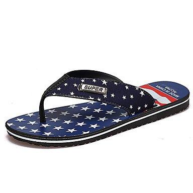 Athletic Shoes Uomo Primavera Autunno PU comfort Casual Sandali Walking piatto HeelBlack bianchi sandali US10 / EU43 / UK9 / CN44