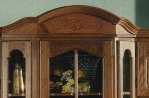 XANA-Möbel Edle Wohnwand in Eiche rustikal / Schrankwand Anbauwand Massiv – Vitrine - 5