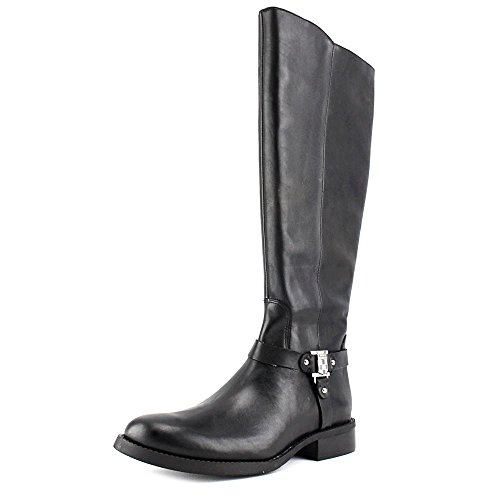 Vince Camuto Farren 2 Wide Calf Rund Leder Mode-Knie hoch Stiefel Black