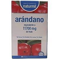 Naturmil Arándano rojo 60 capsulas 11.700 mg + Vitamina C por capsula ALTA CONCENTRACIÓN potente, previene y alivia las infecciones urinarias, ...