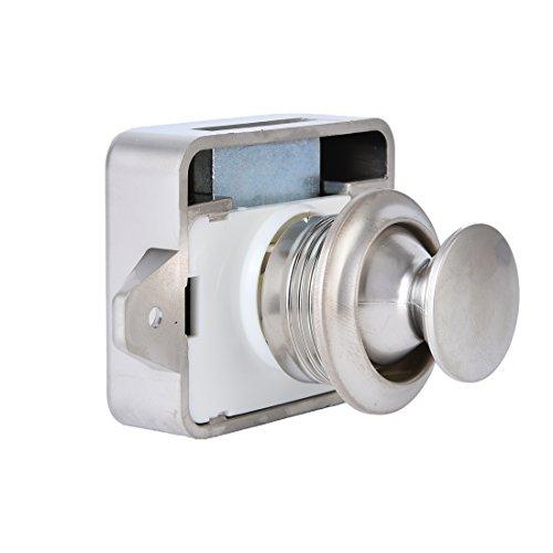 5 Stück schlüsselloser Kunststoff-Druckknopfverschluss von BONA, kleiner Ersatz für Wohnwagen, Wohnmobil, für Möbel von 15 - 18 mm Dicke (Pearl Nickel) - Wohnwagen Springs