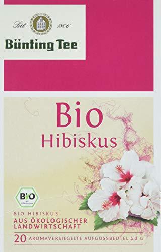 Bünting Tee Bio Hibiskus, 12er Pack (12 x 40 g)