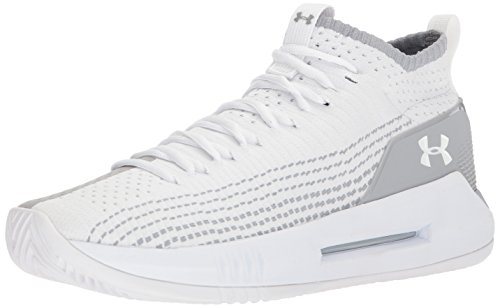 Under Armour UA Heat Seeker, Scarpe da Basket Uomo, Bianco (White 100), 42 EU