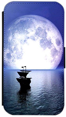 Flip Cover für Apple iPhone 4 / 4s Design 394 Eifelturm Paris Frankreich bei Nacht Blau Gelb Hülle aus Kunst-Leder Handytasche Etui Schutzhülle Case Wallet Buchflip (394) 379