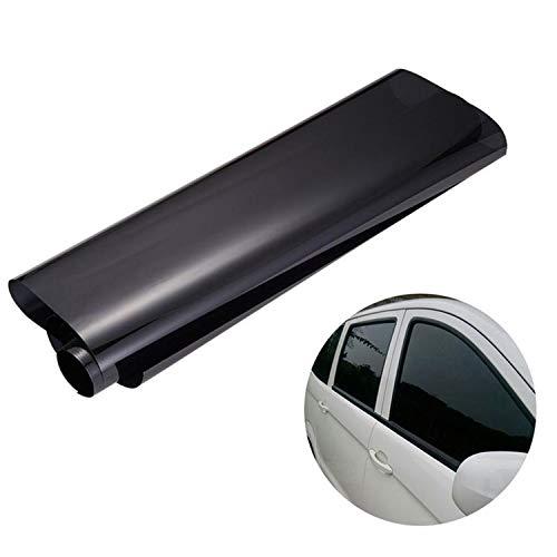 Wall-8-cc - pellicola oscurante universale per finestrini auto, 75 cm x 3 m, per privacy e riduzione del calore, colore: nero