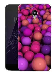 "Humor Gang Purple Balls Pattern Printed Designer Mobile Back Cover For ""Google Infocus M2 Note"" (3D, Matte Finish, Premium Quality, Protective Snap On Slim Hard Phone Case, Multi Color)"