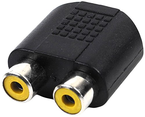 3.5mm Female Jack Socket to Dual RCA Female Phono Adapter Connector