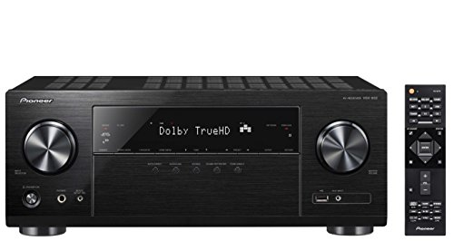 Pioneer VSX-832(B) 5.1-Kanal-Receiver (5x 130 W, Streaming-Vollausstattung, Dolby Atmos und dts:X mit Surround Enhancer, 4K Ultra HD, Video-Scaler, 4 HDMI-Eingängen, HDCP 2.2) Schwarz
