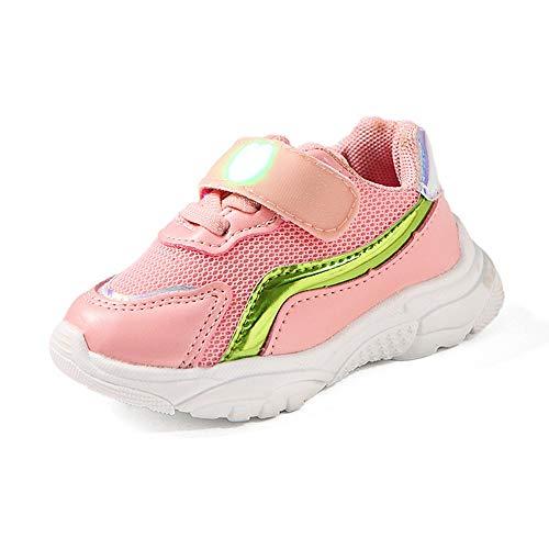 (Beikoard Kinder Baby Mädchen Jungen Turnschuhe Buchstabe Masche Sport Schuhe Beleuchtung Schuhe leuchtende Schuhe blinkende Schuhe)