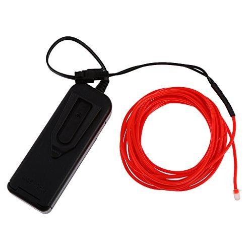 Kabel Lichtschnur Leuchtschnur Draht Glühen Wire Licht - Rot ()