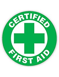 CERTIFIED FIRST AID (GREEN & WHITE BADGE) Button Badge 45mm Medium Pinback Pin Back Lapel Novelty Gift