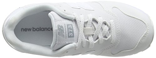 New Balance 373, Sneakers Basses Mixte Enfant Blanc (White)