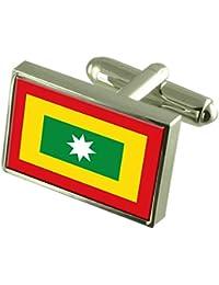 Ciudad Barranquilla Colombia Bandera gemelos