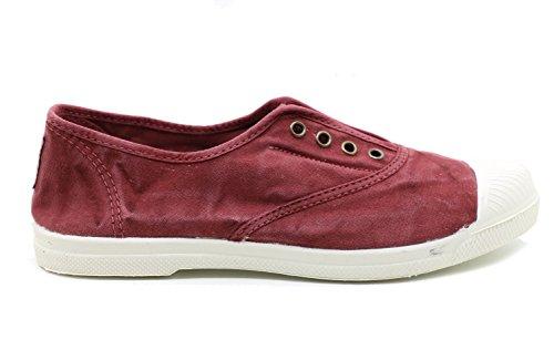 Stoff Schuh Rosa Natural World 102-E Rot