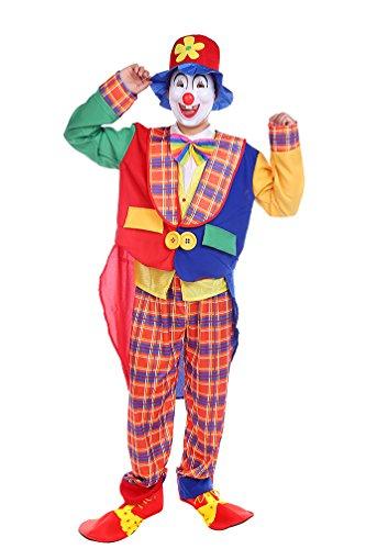 Niseng costumi halloween adulti costume clown vestiti carnevale uomo pagliaccio costumes cosplay per festa rosso/blu
