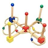Homyl Holz Ringwurfspiel - Spiele für draußen - Werfen den Ring für Kinder pädagogische Spielzeug