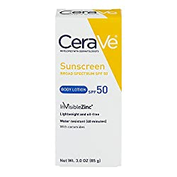 CeraVe Sunscreen Broad Spectrum SPF, 50 Body Lotion, 3. 09 oz