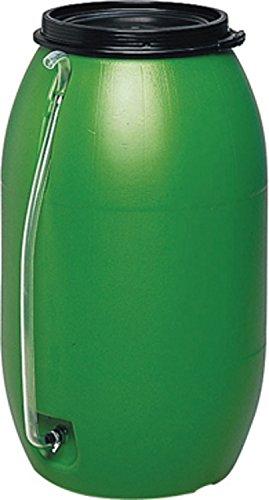 Regentonne / Gartenfass, 3 Jahre Garantie, Lebensmittelecht und UV-geschützt, kindergesicherter Deckel, 88 x 108 cm, 500 Liter, 583485