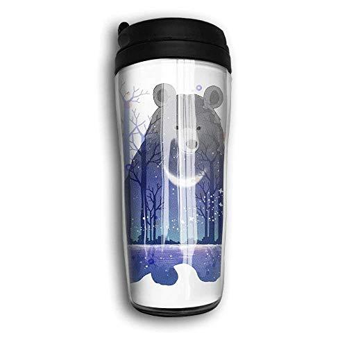 7 Unze Edelstahlflasche Isolierte Kaffeetasse Edelstahl Trave Büro Tasse Bärensee Collage Tasse, Heiß halten, Handschale tragen (Billig Bulk In Basketbälle)