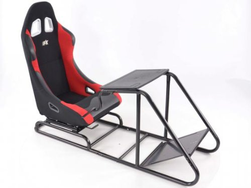 seat-racing-simulator-for-pc-gamers-and-game-consoles-fabric-black-red