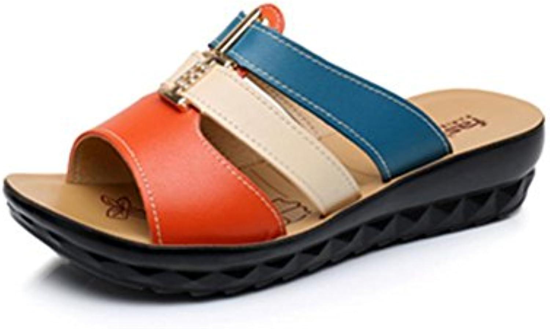 pengweiCoole Pantoffel Damen Sommer Piste Ferse Schuhe Strand Schuhe Farbe Anti-Rutsch Hausschuhe , 1 , us7.5ö
