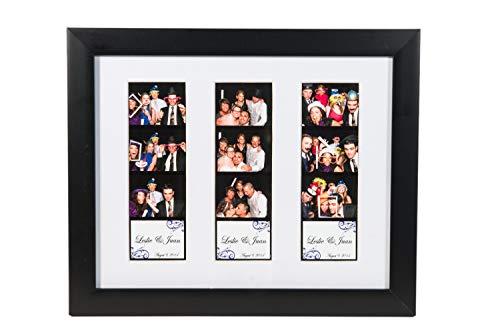 Photo Booth Frames Fotorahmen mit Matte für 3 Fotos à 20 x 25 cm, Schwarz