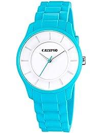 Calypso Damenarmbanduhr Quarzuhr Kunststoffuhr mit Polyurethanband analog alle Modelle K5671, Uhren Variante:N°3