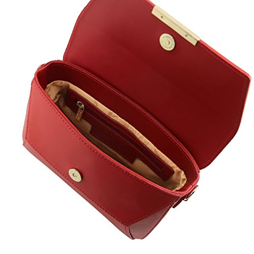 6117b90214 ... Tuscany Leather TL Bag Pochette in pelle Nude Rosso ...