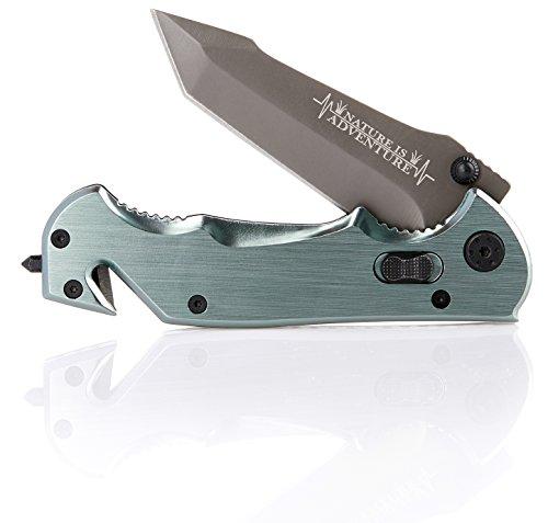 Nature is Adventure® Scharfes Klappmesser inkl. Gürteltasche - kleines Einhand Messer Taschenmesser für Survival und Outdoor - auch als Geschenk - 5