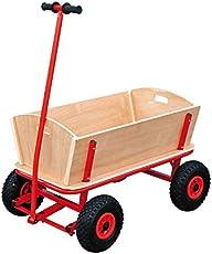 """Bollerwagen """"Maxi"""" aus stabilem Holz, ideal für den Familienausflug, belastbar bis 80 kg"""