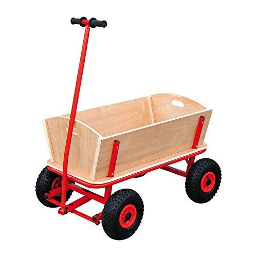 """Preisvergleich Produktbild Bollerwagen """"Maxi"""" aus stabilem Holz, ideal für den Familienausflug, belastbar bis 80 kg"""