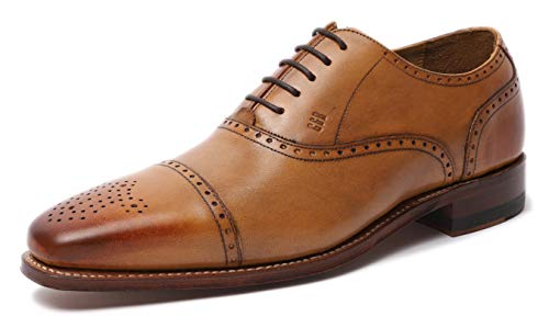 Gordon & Bros Lucquin 2830 Herren Businessschuhe, Schnürhalbschuhe, Anzugsschuhe, Derby Goodyear Leder Braun (tan), EU 45