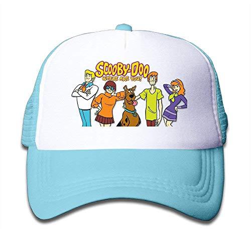 UUOnly WH & SY Scooby-DOO-wo-bist-du Kinder Mesh Trucker Cap Einstellbare Mode Kinder Mesh Hysteresenhut Strapback Hats Pink Fußball Mesh Trucker Hat-cap