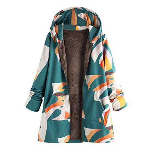 TEFIIR Damen 2 in 1 Kapuzenpullover Reißverschluss Ganzkörper Hoodies Gedruckt Mantel Pullover mit Kapuzen Sweatshirt Sweater Lose Tops