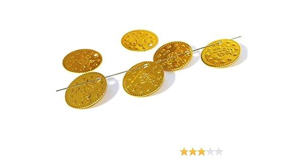 Gold AB Bauchtanz Fasching Deko Bastel Münzen 200 Stück #J14