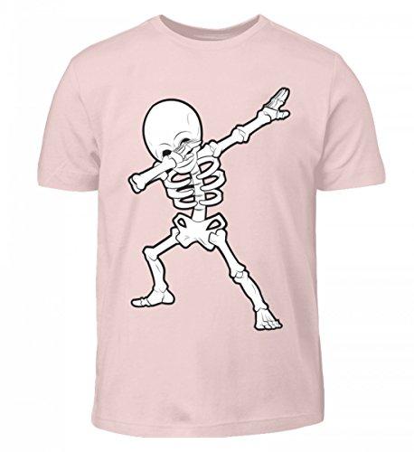Hochwertiges Kinder T-Shirt - Dabbing Skelett Hip-Hop Dab Tanzendes Gerippe Tanz Geschenk