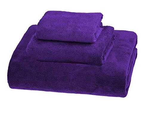 MYLSMPLE simplife Luxus Mikrofaser Extra groß Bad Handtücher Beach Bad Blatt Schnell Trocknend Handtücher saugfähig Handtücher Set violett -