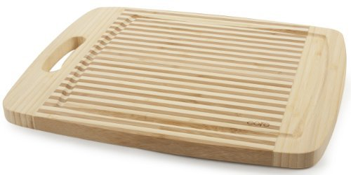 Core Bamboo Tulip Collection Cutting Board, Natural, Medium by Core Bamboo