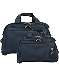 Fly Robust Softsided Nylon Duffle Carry-On Trolley Travel Luggage Set of 2 05e53bf3d5ec3