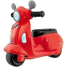 Artsana Spain, S.A.U. Correpasillos Moto Vespa Roja 36X28X42 cm con Volante Electronico Luces y Sonidos