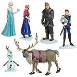 SET 6 FIGURE Personaggi Film FROZEN Disney ELSA ANNA OLAF SVEN etc. CAKE TOPPERS Torta