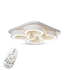 48W LED Deckenlampe Kreative Deckenleuchte 4 Lampe C-förmige Energiesparlampe für Flur Wohnzimmer Schlafzimmer Küche Farbe Weiß (4 Lampe - 48W Dimmbar)