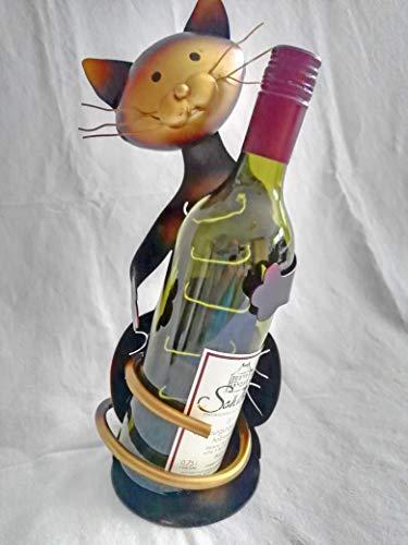 Tooarts Katze Geformte Weinflaschenhalter Weinregal Regal Metall Skulptur Praktische Home Dekoration Handwerk