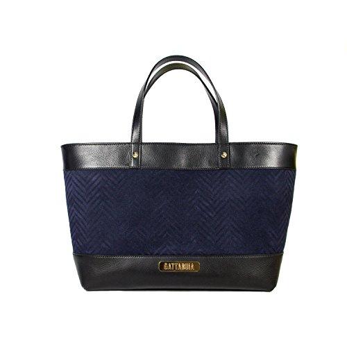 Gattabuia Claudia, sac bandoulière Blu (Ebano/Notte)