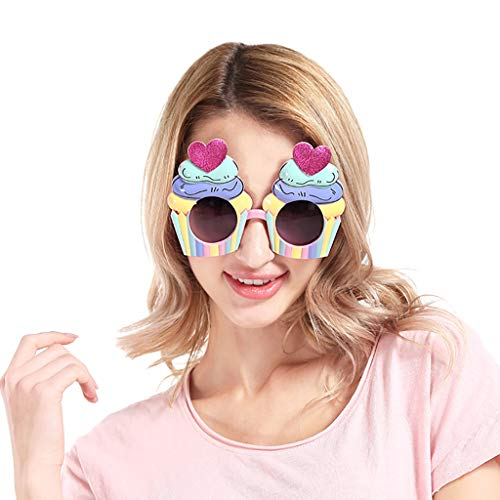 �Ckte KostüM Brille Neuheit Party Sonnenbrillen ZubehöR läSer Alles Gute Zum Geburtstag Brillen Foto Accessoires Photo Booth Requisiten Props Dekorationen(Mehrfarbig2) ()