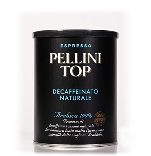 Pellini Caffè, Pellini Top Arabica 100% für Espressokanne Decaffeinato Naturale, 2er Pack (2 x 250 g)