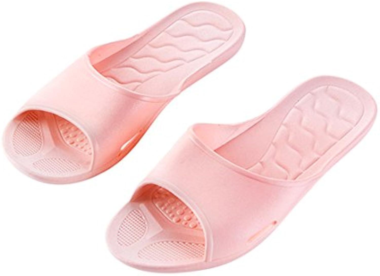 Cuarto de baño antideslizante zapatillas hogar baño fondo suave par indoor Cool zapatillas,38 y 39 / superficial...